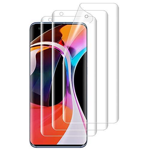 ANEWSIR Schutzfolie für Xiaomi Mi 10/Mi 10 Pro Bildschirmschutzfolie, 3 Stück Weiche TPU Folie Ultra-klar Bildschirmschutz, Anti Bläschen, Bildschirm Schutzfolie Folie für Xiaomi Mi 10/Mi 10 Pro.