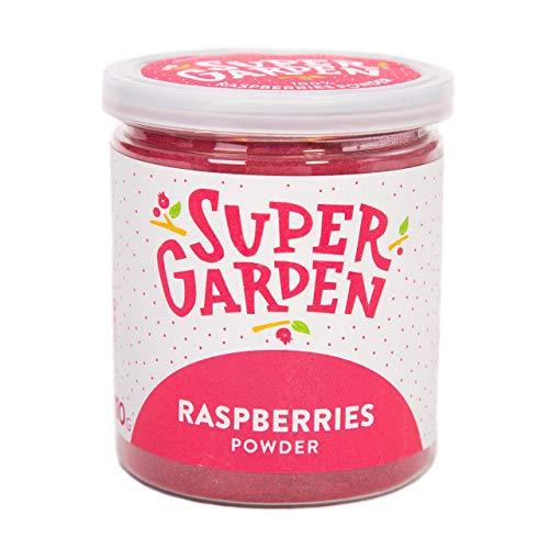 Poudre de framboises lyophilisées Supergarden - 100% pur et naturel - convient aux végétaliens - sans sucre ajouté, sans additifs artificiels et sans conservateurs - sans gluten - sans OGM