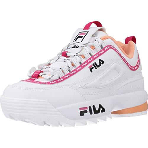 Zapatos niña Zapatilla de Deporte FILA Disruptor Logo JR en Cuero Blanco 1010851.92U