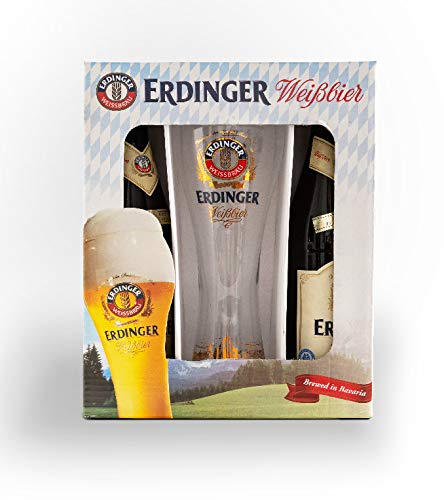 Erdinger Weissbier Pack 2 botellas 500ml + Vaso