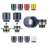 810/510 2in1 Wide Bore Drip Tip Mundstücke mit Spritzschutz und Adapter DripTip (1x Schwarz)