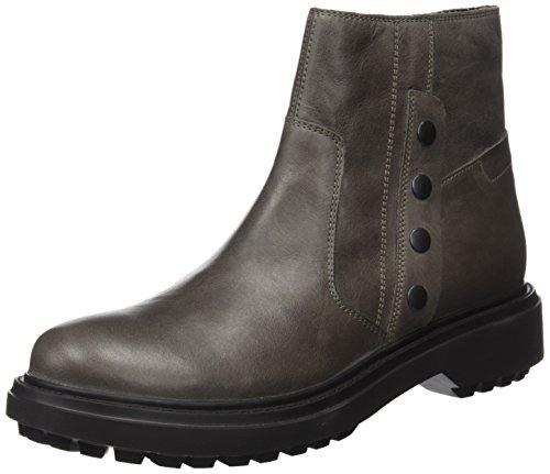 Geox Damen D ASHEELY B Biker Boots, Grau (Dk Grey), 38 EU
