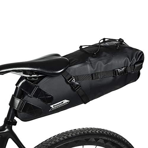 WILDKEN Bolsa de Sillín de Bicicleta Bolsa de Asiento de Bicicleta Impermeable de Tubo Superior para Bicicletas de montaña Bicicletas de Carrera (10L)