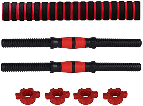 2PCS Barras de Mancuernas, Barra de Fitness Universal de 40 cm, para Gimnasio, Entrenamiento de Fuerza, Mancuernas,...