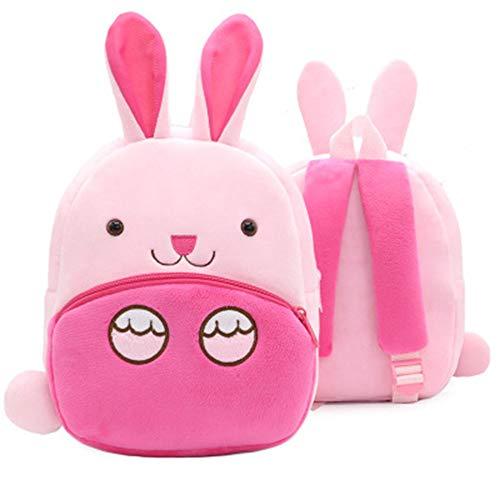 Kleinkind Kinder Rucksack Plüsch Tier Cartoon Mini Kinder Tasche für Baby Mädchen Junge Alter 1-3 Jahre - Hase