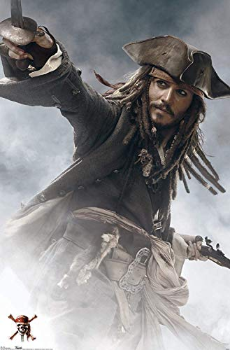 DIY 5D Diamond Painting Kits for Adults Full Drill Diamond Painting Jack Sparrow Captain for Home Wall Decor 30x45cm