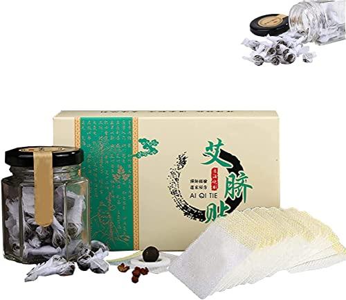 Pegatina para el ombligo de pellets para adelgazar a base de hierbas, pegatina para el ombligo de artemisa, pegatinas para el ombligo de ajenjo (120 piezas)