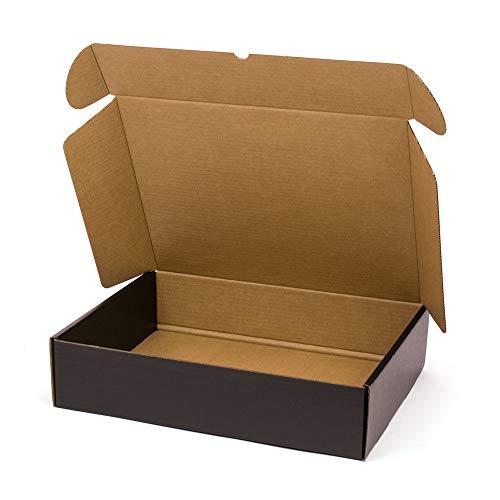Kartox | Caja De Cartón Negra para Envío Postal | Caja Automontable ideal para Regalo | Caja de Cartón Resistente | Talla XL | 41,7 x 32,4 x 9,8 cm | 20 unidades