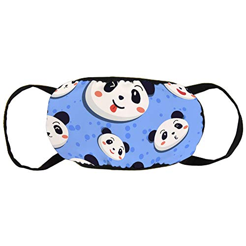 Panda Seamless Patroon Blue Cotton Gezichtsmasker Mouth met Design Fashion Anti Dusk Face Maks Earloops Herbruikbaar Mouth Muffle Mask