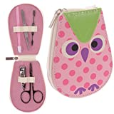 Color rosa búho belleza uñas kit