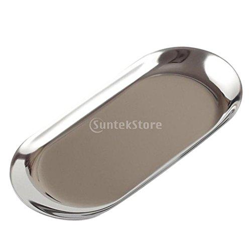 Homyl Mini Oval Teller, 18cm /23cm - Silber S