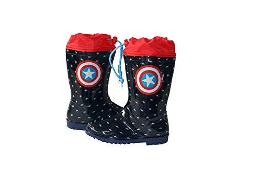 Avengers Botte DE Pluie Ajustable AU Mollet Garcon (Marine, Numeric_25)