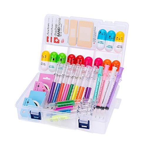 34 Pcs Cute School Supplies Set 12 Syringe Highlighters 4 Nursing Needle Pens 12 Vitamin Pill Pens And 2 Tape 3 Bandage Sticky Notes Cool School Supplies Gifts For Nurse
