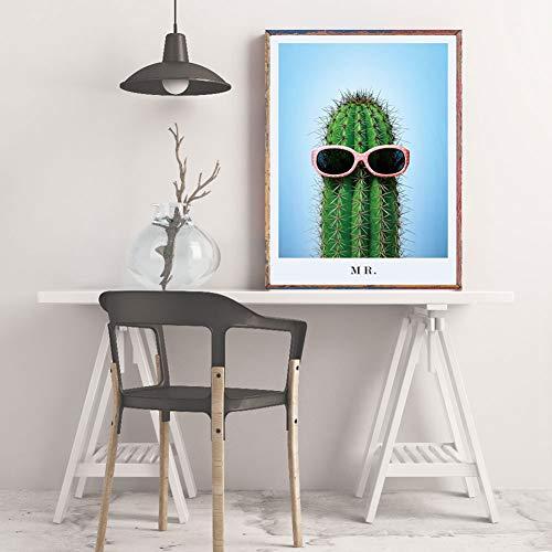 Decoratieve schilderij poster cactus plant canvas kunst wanddecoratie voor slaapkamer woonkamer kantoor 3#