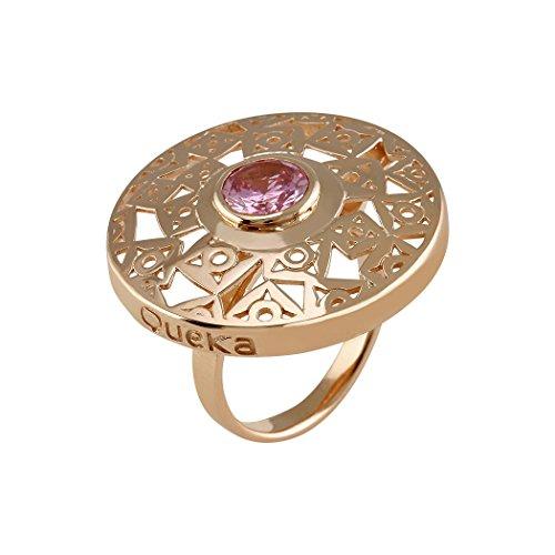 Sterling Silber Ring Queka 925m Sammlung Sol [AA0863]