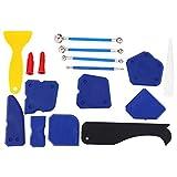 Dissolvant de Mastic, Kit d'outils de calfeutrage de 16 pièce, épandeur de dissolvant de Mastic en Silicone, grattoir à calfeutrer, Outils de Finition de Colle en Verre pour fenêtr