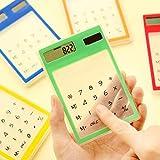 Aland-Ultra Slim Mini Transparent Solar Powered LCD Touch Screen Student Calculator
