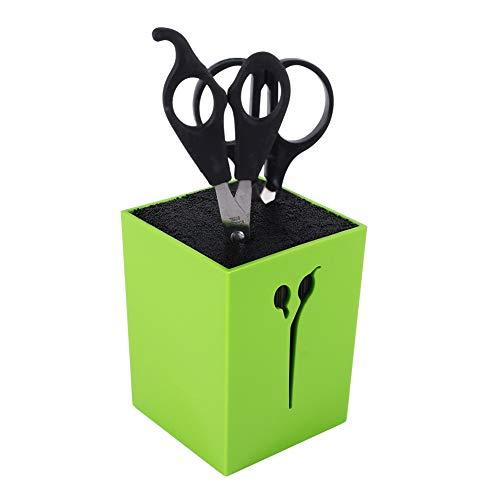 Ponacat Porte-Ciseaux Organisateur D'outils de Coiffure Peigne Coupe-Cheveux Pinces Porte-Ciseaux Support Outil de Prise (Vert)