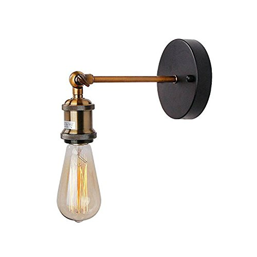 MUTANG Retro Industrial lámpara de Pared Ajustable rústico Loft rústico Antiguo Industrial Aplique lámpara Vintage Edison Simple Retro iluminación de Pared Montaje casero café Luces de Pared