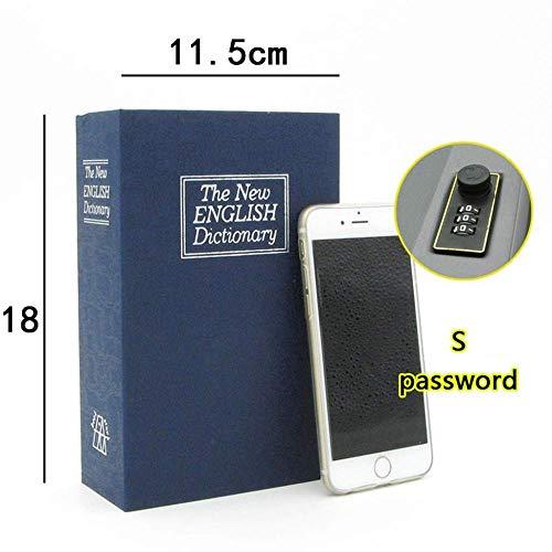 Real Book Safe Wachtwoord Geheime Verborgen Opslag Safe Box Stash Beveiligingsdoos Voor Cash Sieraden