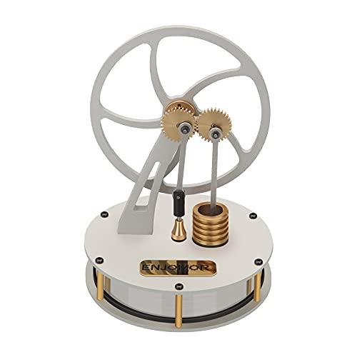 JOYFLY Enjomor - Modelo de motor Stirling de aire caliente, motor de torsión de metal, color plateado