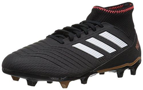 adidas Predator 18.3 FG Soccer Shoe, core Black/White/Solar red, 8.5 M US