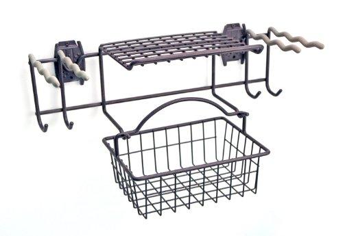 Organized Living 7115520050 Activity Organizer Garden Rack with Basket,Granite Gray