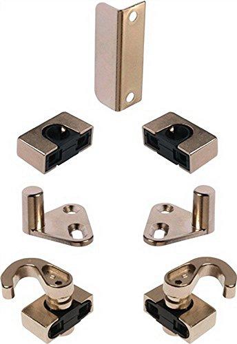 Zubehör System 600 für Möbeldrehstangenschloss Stahl vernickelt