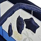 HOMCOM Kinderreisebett klappbar Reisebettmatratze Klappbett Kinder Reisebett Babybett mit Rollen Tragetasche für 0-3 Jahre Metall + Oxfordstoff Blau 120 x 60 x 78 cm - 7