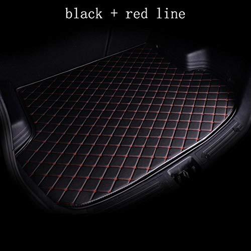 Custom Car Trunk Mat für SsangYong Alle Modelle Rodius Kyron Actyon Rexton Korando Car Styling Zubehör, Schwarz Red Line