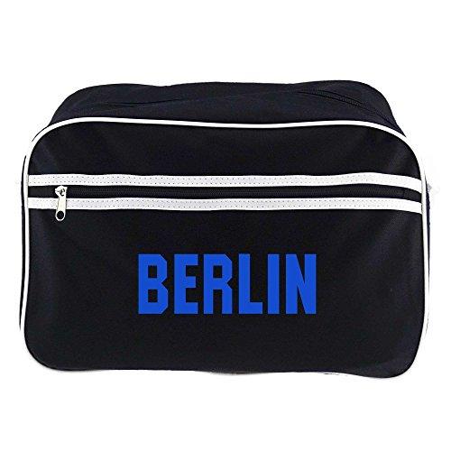 Retrotasche Schriftzug Berlin schwarz