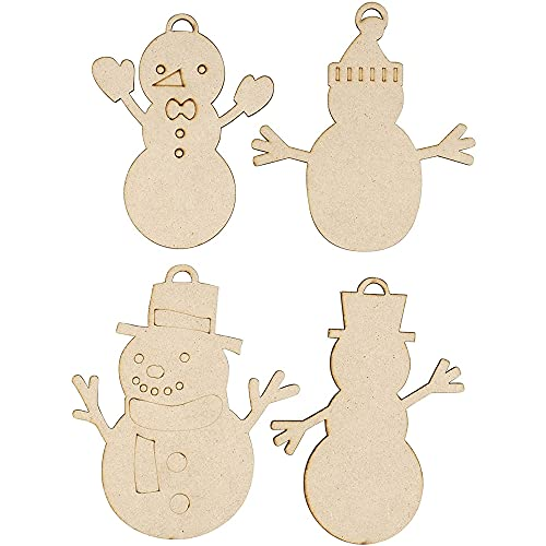 Unfinished Wooden Snowman Cutouts