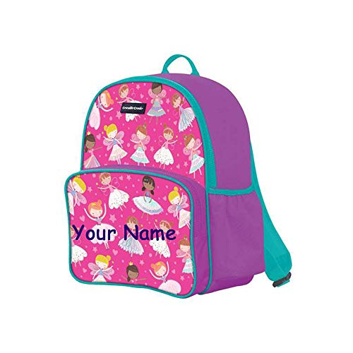 Personalized Dancers and Dreamers with Ballerinas and Fairies Back to School Backpack Book Bag with Custom Name