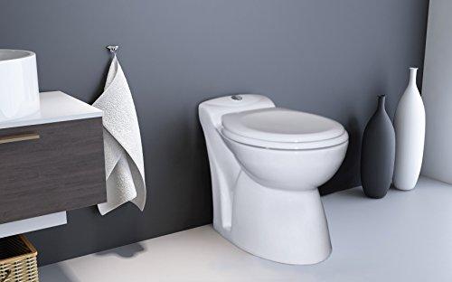 Setma Hebeanlage Watergenie Kompakt, WC + Waschtisch-Zulauf, Keramik-WC inkl. Hebeanlage, Wassersparspülung, Duroplast WC-Sitz