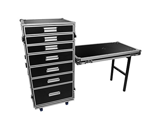 OSP Cases   Pro-Work   7-Drawer Utility Case Attachable Standing Lid Table