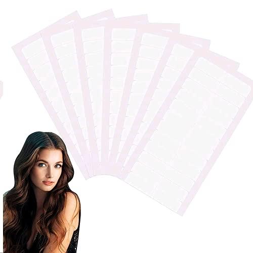 180 Stück Haarverlängerung klebeband tape extensions klebeband für tape in klebestreifen, Hohe Klebekraft, Klebedauer und Wasserdicht Ersatztapes für den Ersatz, 4 x 0,8 cm (weiß)