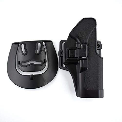 X-Baofu, For Glock 17 19 22 23 31 32 Airsoft Cinturón de Pistola Cintura Pistolera Funda Pistolera Estuche de Transporte + Molle Platform Adaptador táctico de Funda (Color : Negro)
