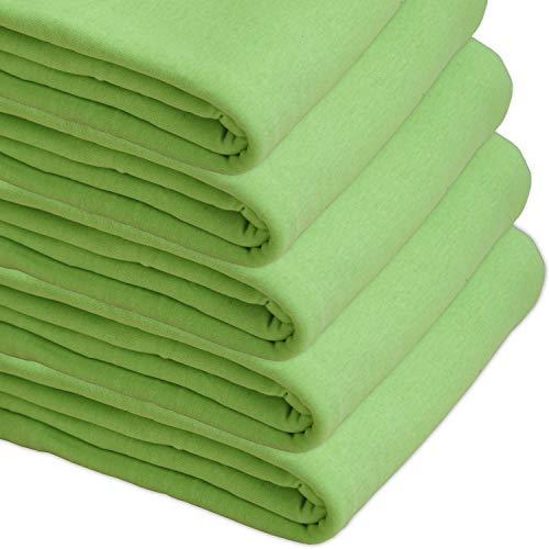 Nurtextil24 Sofaüberwurf Elastisch Baumwolle Bettüberwurf (viele Variante verfügbar) Couch Überwurf Kiwigrün 210 x 250 cm