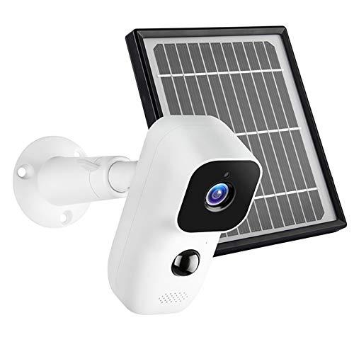 TISHITA Cámara 1080P Seguridad Inalámbrica IP65 Resistente a La Intemperie WiFi Inalámbrico Exterior 155 ° - X9 con Panel Solar