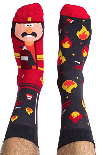 Nanushki unisex lustige verrückte Motiv Socken Feuerwehrmann (40-43, Forrest McBurney)