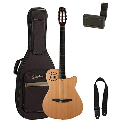Godin multiac series-acs Slim cedro nailon guitarra (con funda)