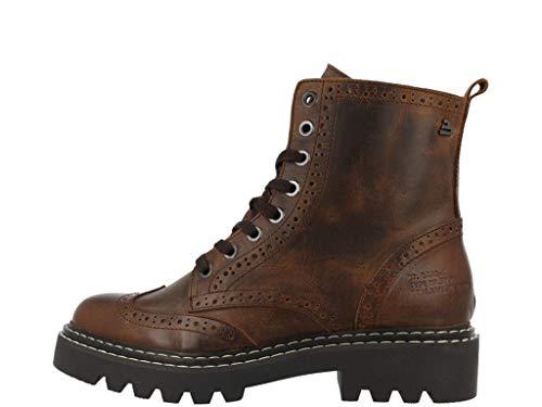 BULLBOXER Damen Stiefel, Frauen Schnürstiefel,Boots,Combat Boots,Schnürung,gefüttert, Boots Combat schnürung gefüttert,Dunkelbraun,38 EU / 5 UK