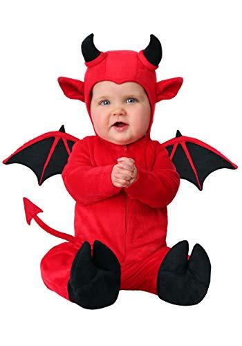 Infant Adorable Devil Costume 12/18 Months Red