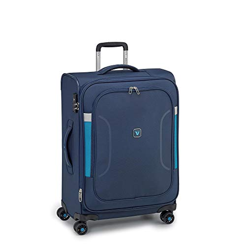 RONCATO City break Trolley morbido large espandibile 4 ruote Blu notte tsa