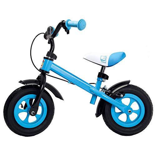 Bino Metallaufrad, Bicicletta Unisex-Baby, Blu, 10'