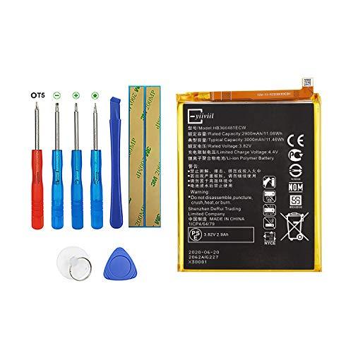 Vvsialeek HB366481ECW Batería compatible para Huawei P9 P9 Lite Honor 8 NEM-UL10 EVA-DL00 con kit de herramientas 2900 mAh