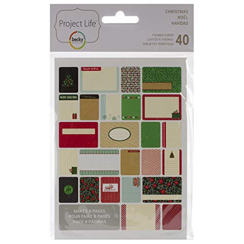 American Crafts Project Life Themed Cards, Mehrfarbig, 16,51x 12,7x 0,63cm
