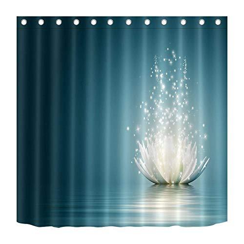 Weißer Lotus. Venus. Duschvorhang. Hintergrundtuch. 180X180Cm. Hd 3D-Druck. Wasserdichter Stoff.