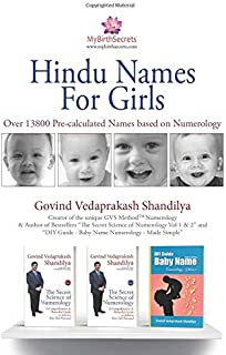 Hindu Names for Girls: A Collection of over 10200 Pre-calculated Names as per Numerology (Baby Names)