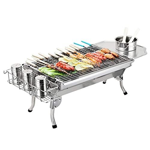 N\C Tragbarer Holzkohlegrill, leicht zu reinigen, Leichter und Faltbarer Grill, geeignet zum Kochen im Freien und Picknick-Camping, 48x33x29cm LKWK